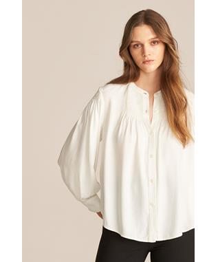 LONG SLEEVE TWILL BLOUSE