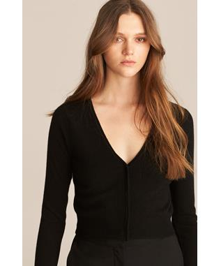BARELY THERE CASHMERE CARDI