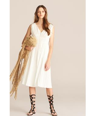 SLEEVELESS BROOMSTICK DRESS