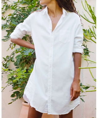 MARY WOVEN BUTTON UP DRESS