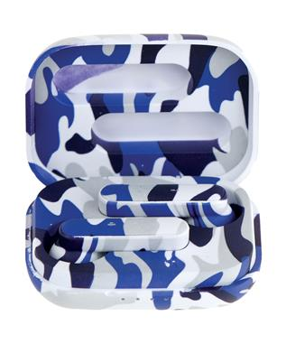 BLUE CAMO EAR BUDS