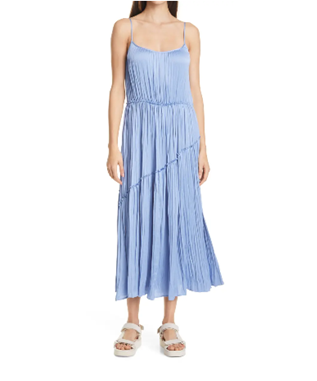 TIERED ASYMMETRIC DRESS