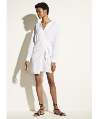 L/S WRAP SHIRT DRESS