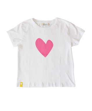 NEON PINK IMPERFECT HEART TEE