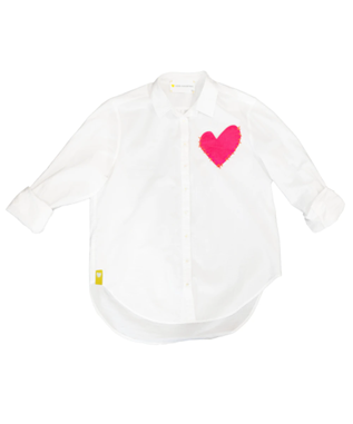 IMPERFECT HEART POCKET BUTTON-UP