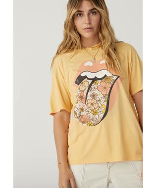 ROLLING STONES FLOWER TONGUE TEE
