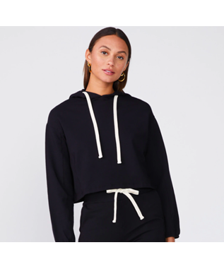 CROPPED PULL OVER HOODY