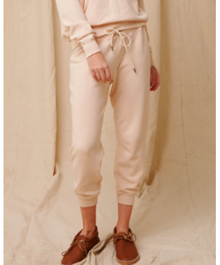 CROPPED SWEATPANT W/ EMBROIDERY