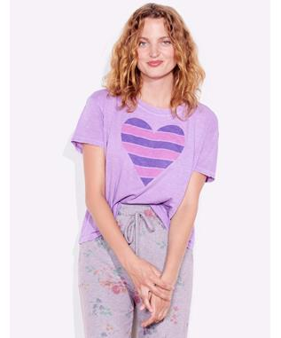 STRIPE HEART VTG TEE