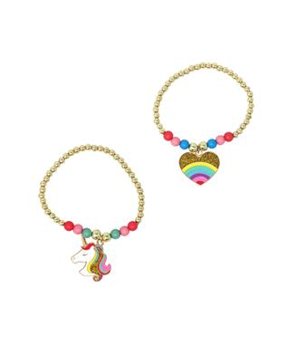 Unicorns or Heart Beaded Bracelet