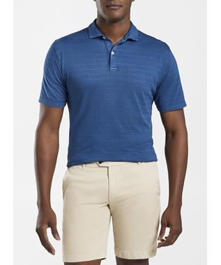 SUNWASHED INDIGO SHORT-SLEEVE POLO