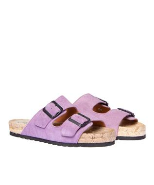 HAMPTON SUEDE BUCKLE SLIDE
