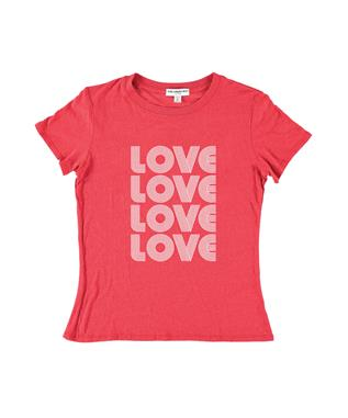 LOVE STACKED TEE