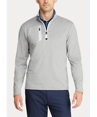 LUX-LEISURE HALF-ZIP PULLOVER