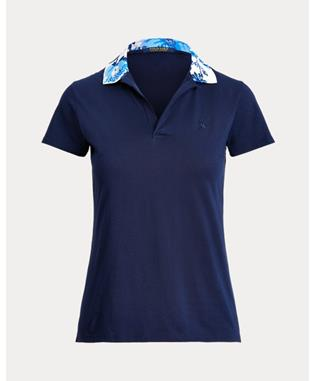 SHORT-SLEEVE PRINTED COLLAR POLO