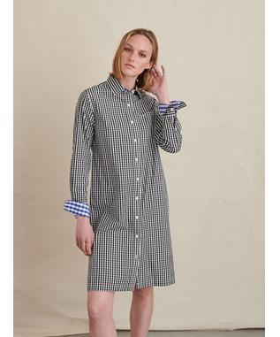 Wyatt Shirt Dress in Gingham