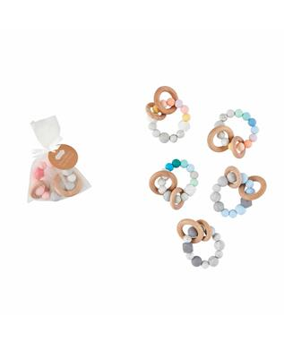 SILICONE AND WOOD TEETHER