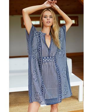 EMERSON SHORT CAFTAN-MUTED CLAY