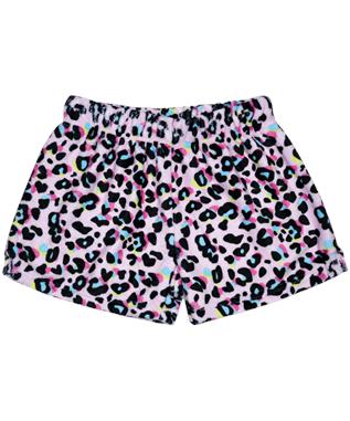Pink Leopard Plush Shorts