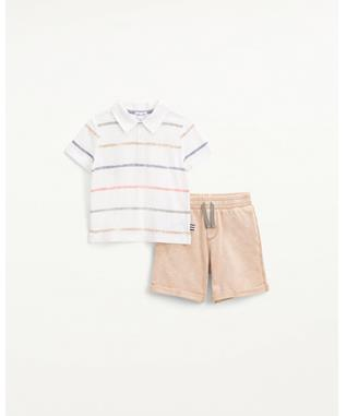 PAINTED STRIPE POLO SET