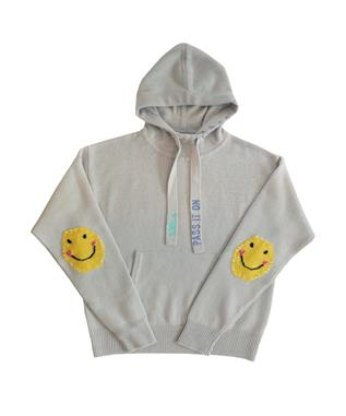 SMILE PASS IT ON CASHMERE PATCH HOODIE