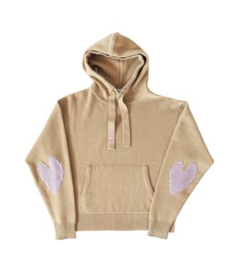 PATCHWORK LOVED CASHMERE HOODIE