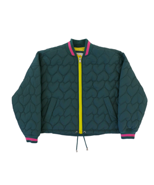 IMPERFECT HEART QUILTED BOMBER