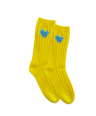 IMPERFECT HEART PATCH SOCKS