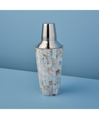 Shell Mosaic Cocktail Shaker
