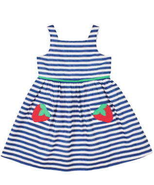 STRIPE DRESS WITH STRAWBERRIES