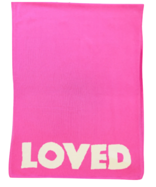 LOVED BLANKET IN POP PINK