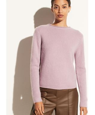 ROLLED EDGE TRIM PULLOVER