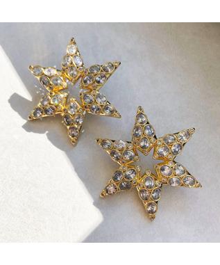 STAR STUDDED STATEMENT EARRINGS