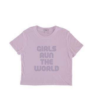 Girls Run the World Crop Tee