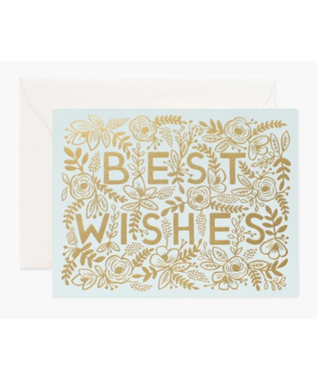 GOLDEN BEST WISHES WEDDING CARD