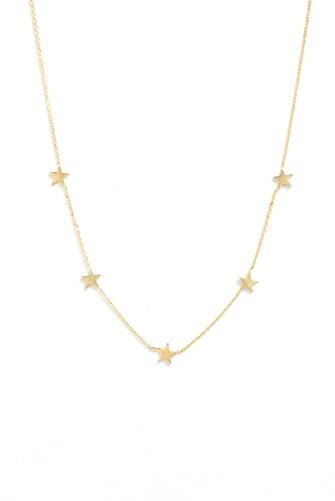 Gold Simple Stars Necklace GOLD
