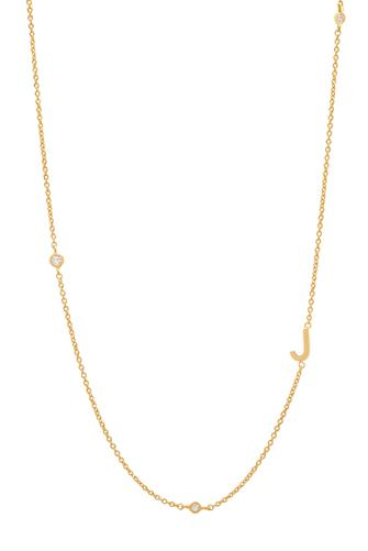 Gold Alphabet Necklace J GOLD