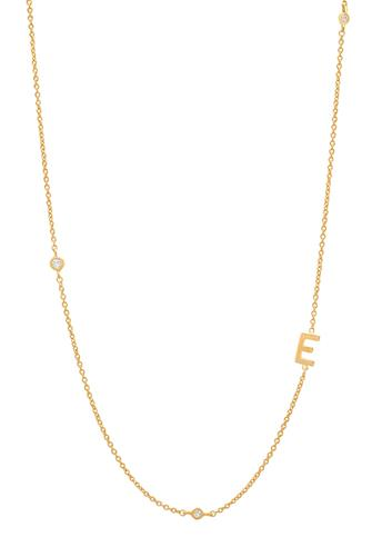 Gold Alphabet Necklace E GOLD