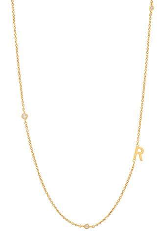 Gold Alphabet Necklace R GOLD