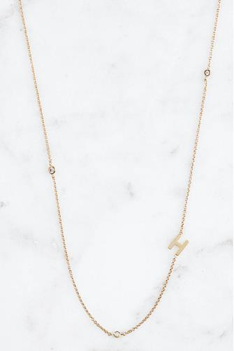 Gold Alphabet Necklace H GOLD