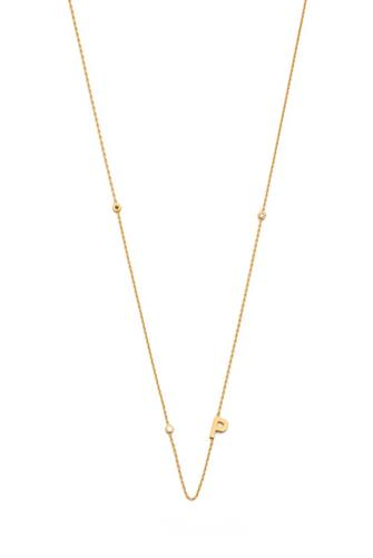 Gold Alphabet Necklace P GOLD