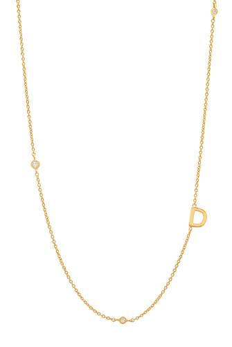 Gold Alphabet Necklace D GOLD