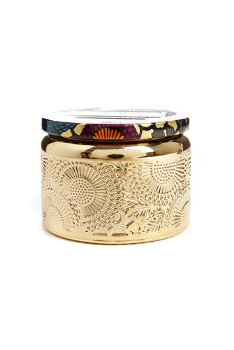 Crane Flower Small Gilded Jar Candle GOLD