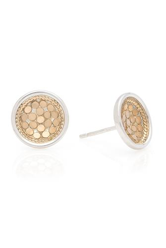 Gold Dish Stud Earrings GOLD