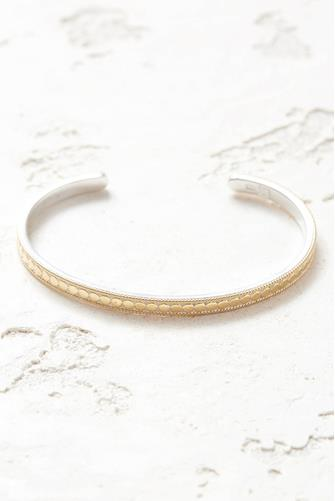 Gold Dotted Stacking Cuff Bracelet GOLD
