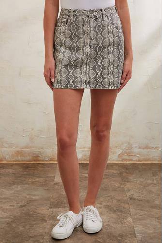 Snake Along Mini Skirt BLACK MULTI -