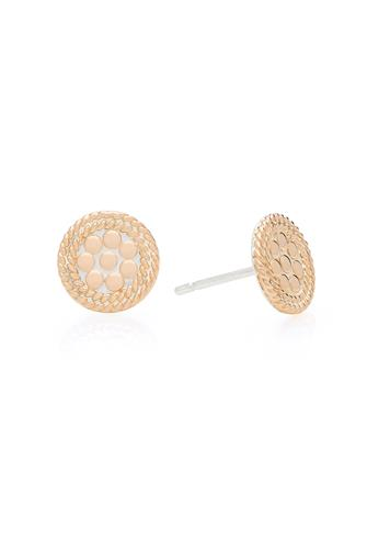 Gold Tiny Circle Stud Earrings GOLD