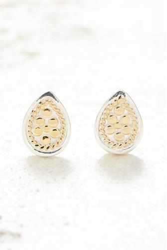 Gold Teardrop Stud Earrings GOLD