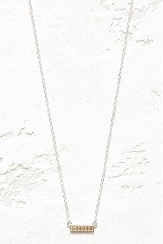 Gold Mini Reversible Bar Necklace GOLD