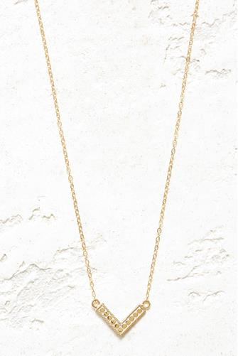 Reversible Mini Arrow Necklace GOLD
